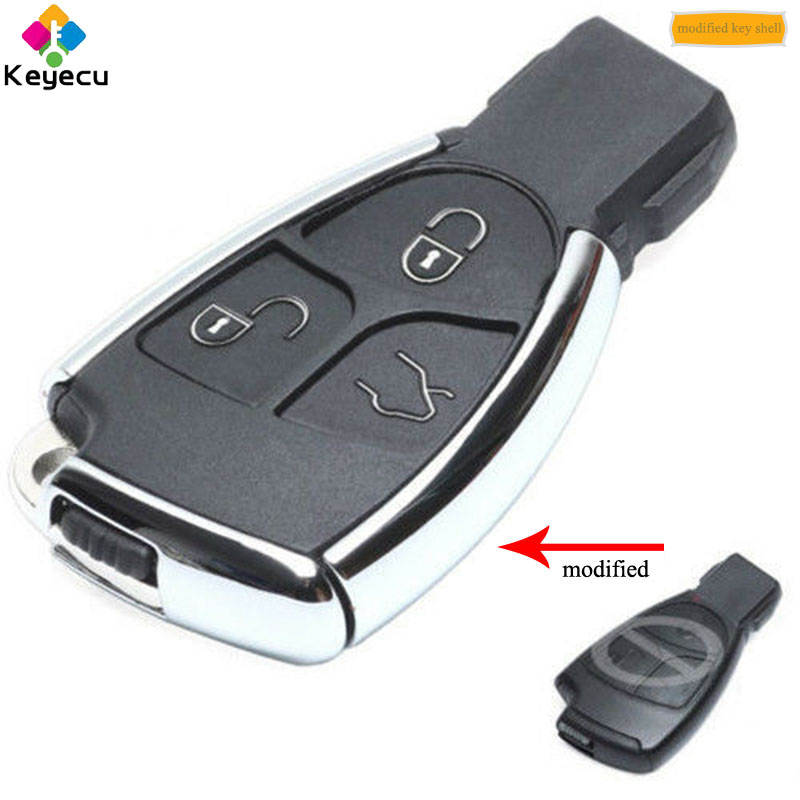 KEYECU 3PCS Lot New Modified Smart Remote Control Car Key Shell Case Housing With 3 Button