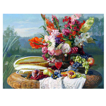 DIY Diamond Painting bunch Flower scene Embroidery flower oil painting Cross Stitch fulll round Home Decor