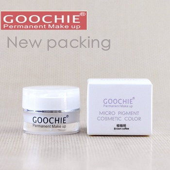 New Goochie Original Permanent Makeup Professional Microblading Eyebrow Tattoo Paste Pigment  Micro 6 Colors Available
