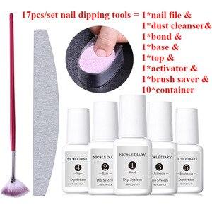Image 3 - NICOLE DIARY Color Dipping Nail Powder DIY  Black Silver Red Purple Series Dip Nail Powder Nail Art Without Lamp Cure