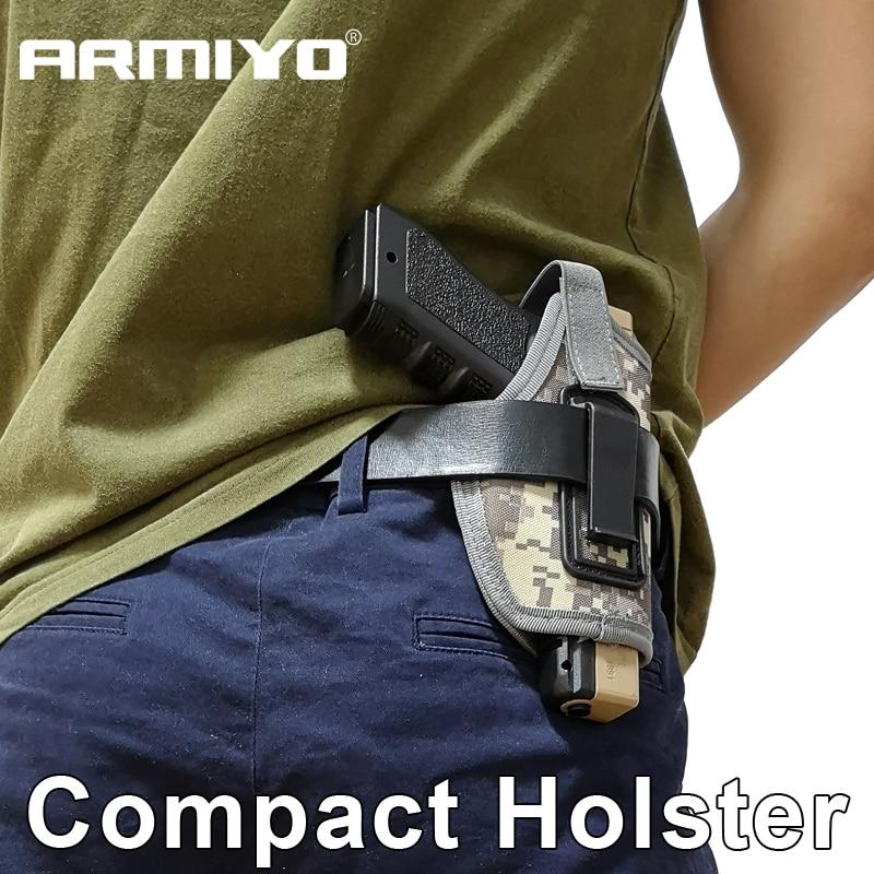 Armiyo Invisible Tactical Compact Subcompact Pistol Holster Waist Plastic Clip Gun Bag Hunting Accessories