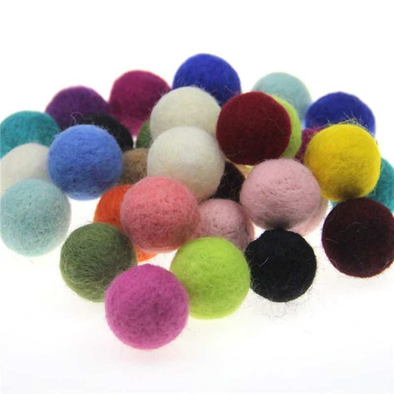 5pcs /lot 2cm Wool Felt Balls Round Wool Felt Balls Pom Poms For Baby Girls Diy Room Party Decoration Newborn Photography Props Welding Equipment