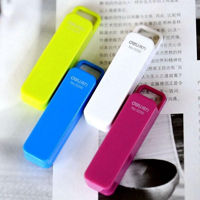 Deli 0250 Mini Fashion Candy Color Stitching Machine Portable Small Stapler Student Stationery Pocket Mini Stapler