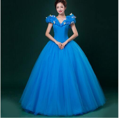 New 2017 Custom Made Women Halloween Cosplay Adult Princess Cinderella Costume Sexy Adult Cinderella Costume