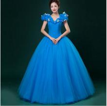 New 2015 Custom Made Women Halloween Cosplay Adult Princess Cinderella Costume Sexy
