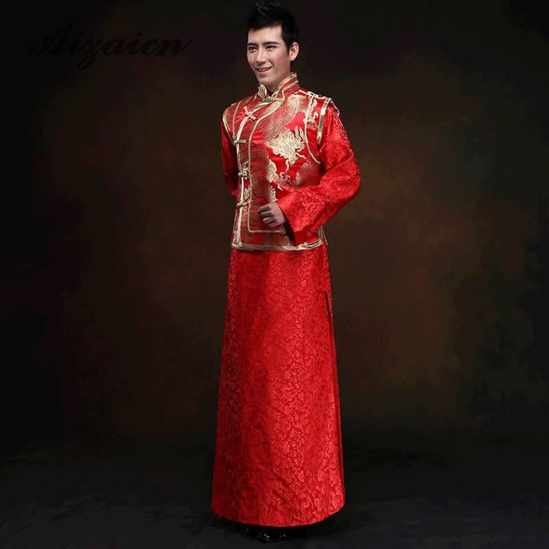 7d0933fb4 Chinese traditional wedding wedding dress costume male JACKET SHIRT MENS clothing  costume Xiuhe groom toast clothing-in Cheongsams from Novelty & Special ...