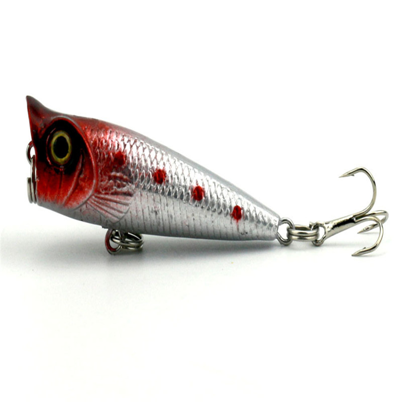 Small popper5g 5cm soft bait fish fishing lure shad 3d eye for Fishing tackle and bait