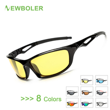 NEWBOLER Polarized Fishing Glasses Men Outdoor Sport Goggles Night Version Driving