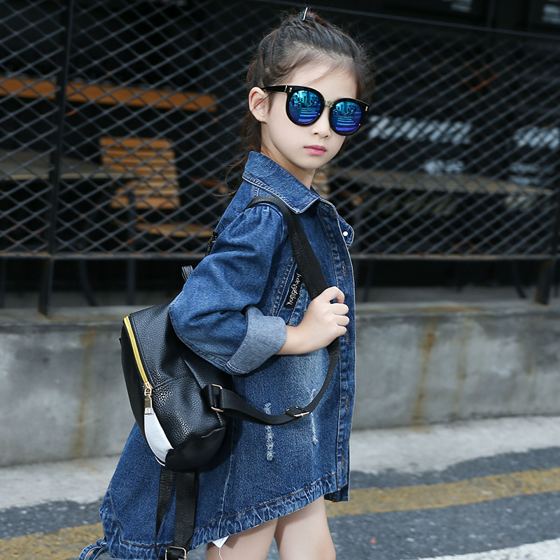 Baby Girls Denim Sequin Coats Vintage Jeans Jackets for Girl Clothes Toddler Denim Jackets Children Outerwear Jean Girl Sweaters