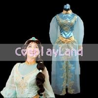 Аладдин и волшебная лампа костюм принцессы жасмин фильм Косплэй принцессы одежда с длинным рукавом индивидуальный заказ Жасмин платье для