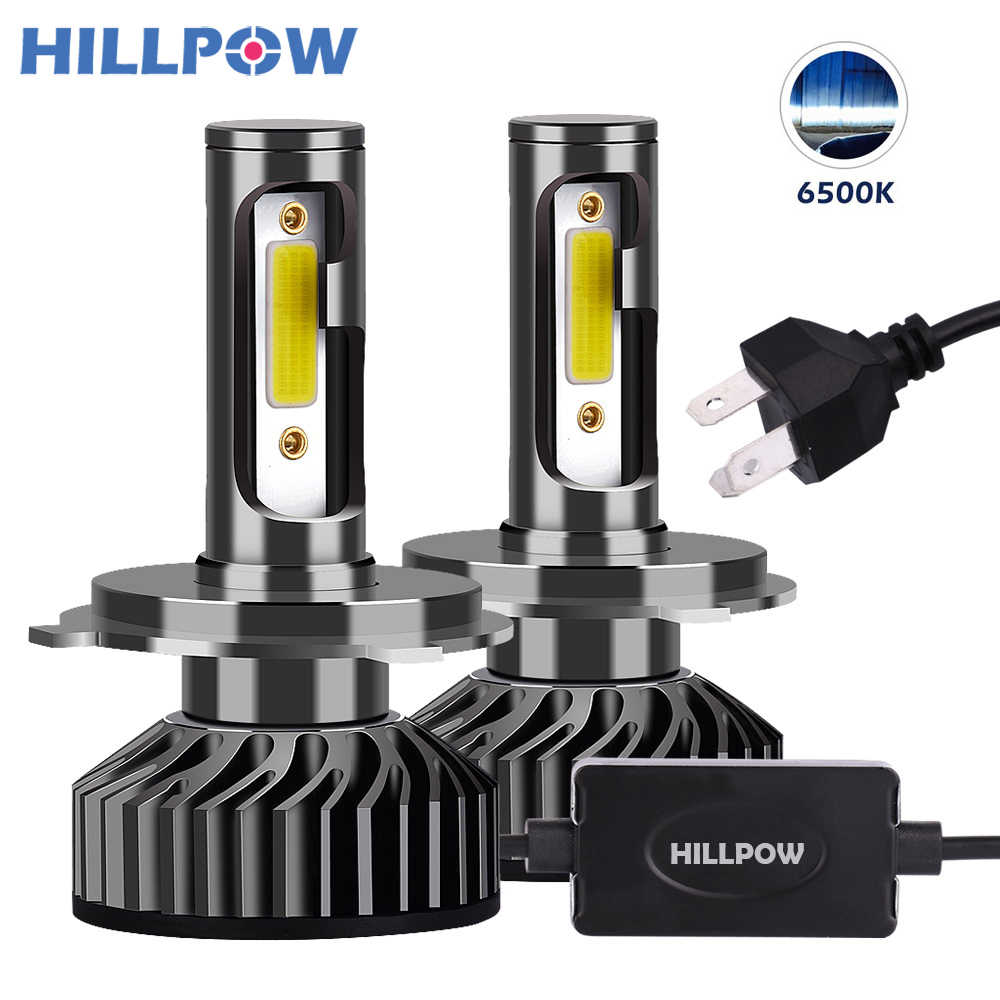 Hillpow Car Headlight H4 LED H7 LED H1 H11 H3 H13 H27 880 9006 9007 72W 8000LM 6500K 12V 24V Auto Headlamp COB Fog Light Bulb