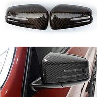Cubierta de espejo de fibra de carbono W176 para Mercedes Benz W176 2013 2016|car mirror cover|w176 carbon|mirror caps -
