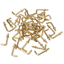 50pcs 1/2 inch L Shaped Screw Dresser Cup Hooks Hanging Hangers Fastener tools home furniture
