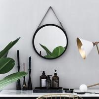 Nordic Wall mounted Decorative Mirror Vanity Mirror Wall mounted Bathroom Toilet Round Mirror Wall Mirror