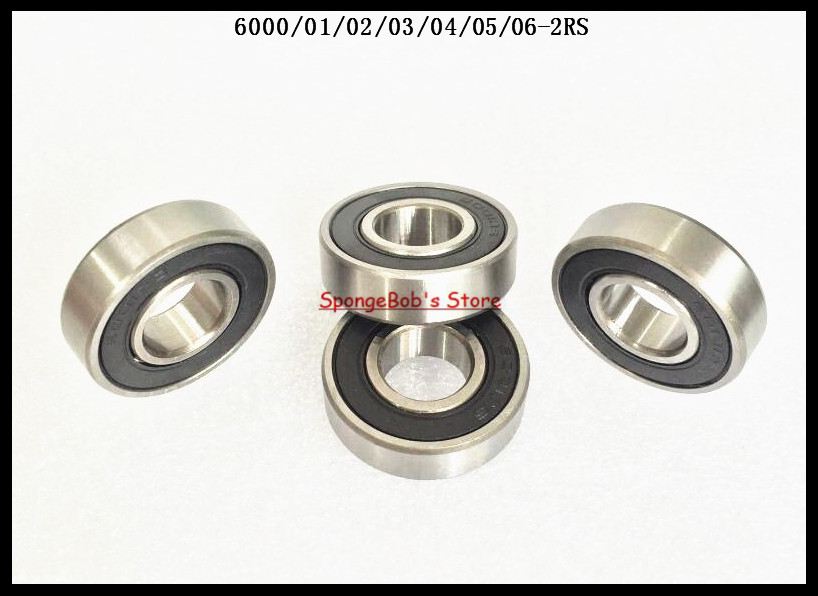 6pcs/Lot 6006-2RS 6006 RS 30x55x13mm Rubber Sealed Deep Groove Ball Bearing Miniature Bearing 5pcs lot 6000 2rs 6000 rs 10x26x8mm rubber sealed deep groove ball bearing miniature bearing