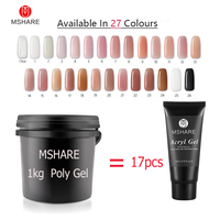 MSHARE 1kg Poly Gel Nails Gel UV Hard Polygel Soak Off Thick LED Camouflage Gel Builder Gel Acryl Acrylic Acrylgel