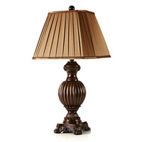 Сельский американской стране смолы ткань E27 Настольная лампа для Гостиная Спальня настольные освещения H 63/73 см 1533