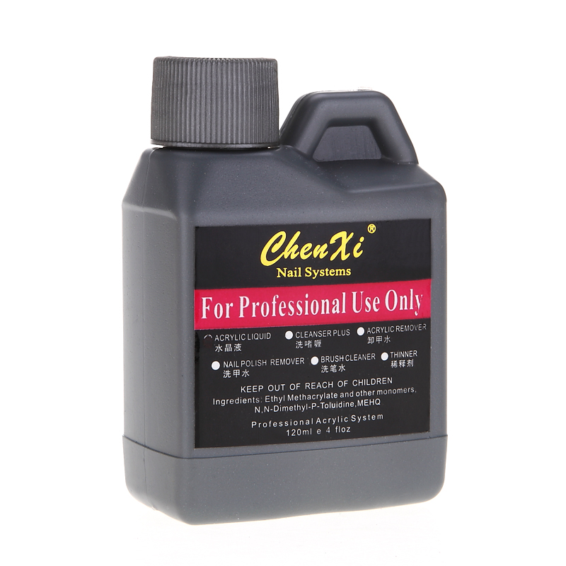 1pc 120ml Pro Nail Art Salon Acrylic Liquid Monomer False Nails Tips ...