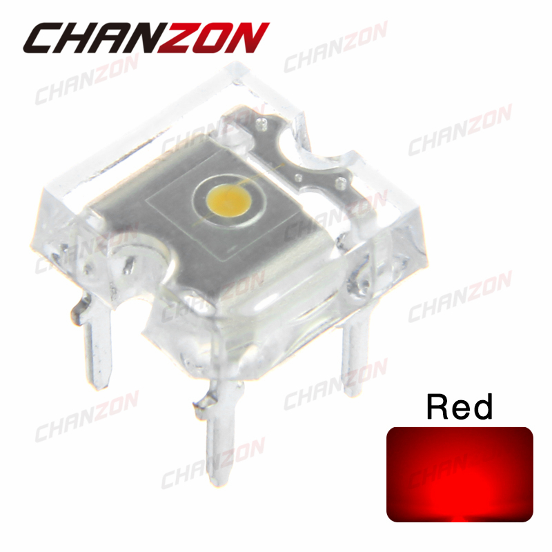 Us 5 76 100pcs Flat Top Led Piranha Diode Red Transparent 20ma Super Flux Light Emitting Diode Led Lamp Ultra Bright Through Hole Bulb In Diodes
