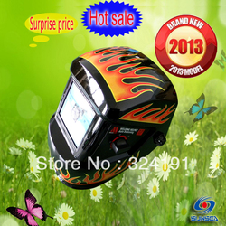 Hot sale Brand new auto darkening welding mask fire flame welding helmet face shileds free shipping