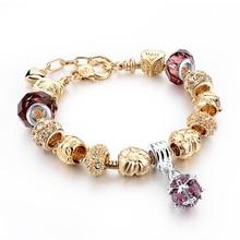 Adjustable Women'S Fashion Jewelry Pink Crystal Bracelet For Women Gold Bracelets Bangles Handmade Jewelry Pulseras Sbr150331 adjustable women s fashion jewelry pink crystal bracelet for women gold bracelets bangles handmade jewelry pulseras sbr150331