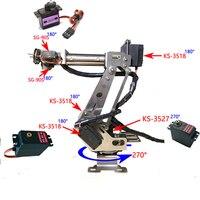 Lắp Ráp hoàn Chỉnh 6 Axis Cơ Khí Cánh Tay Robot Kẹp cho Arduino, Raspberry mor Dhl miễn phí vận chuyển trong một số khu vực