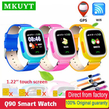 MKUYT Q90 GPS Phone Positioning Children Kids Smart Watch 1 22 Inch Color Touch Screen with