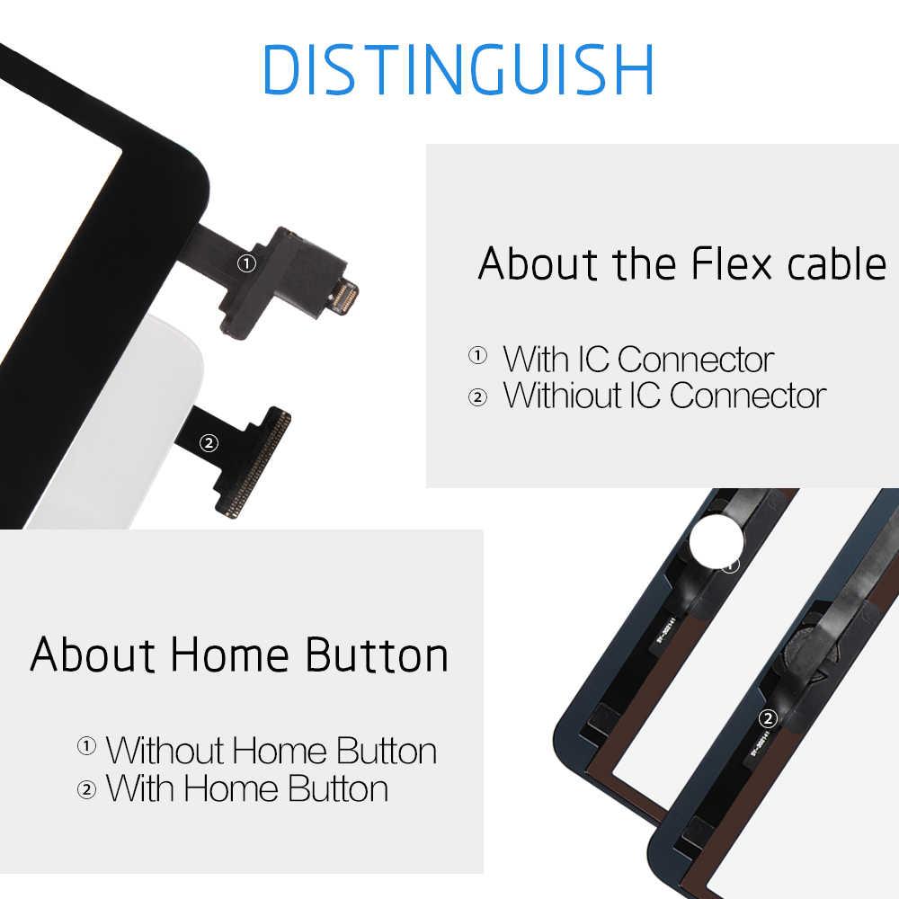 SRJTEK لباد شاشة صغيرة 1 باد Mini 2 شاشة تعمل باللمس A1432 A1454 A1455 A1489 A1490 A149 محول الأرقام IC كابل Mini2 الاستشعار الزجاج