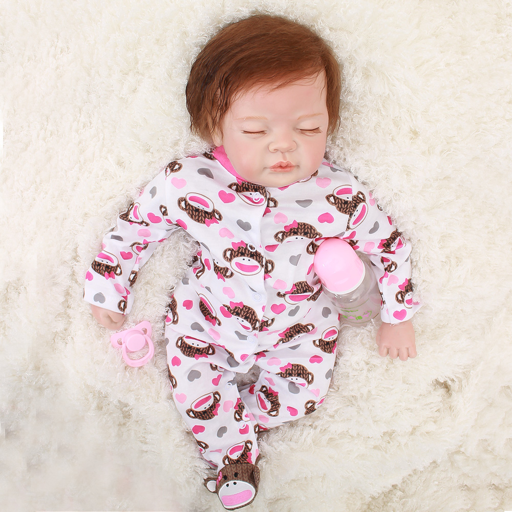 Bebes Reborn Doll 22inch 55cm Silicone Vinyl reborn baby doll Lifelike Toddler Baby Bonecas Girl Kid gift juguetesBebes Reborn Doll 22inch 55cm Silicone Vinyl reborn baby doll Lifelike Toddler Baby Bonecas Girl Kid gift juguetes