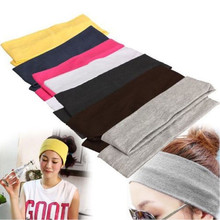 Hot Cotton Women Headbands New Turban Solid Color Girls Knot Hairband Makeup Elastic Hair Bands Lady Headwrap W3