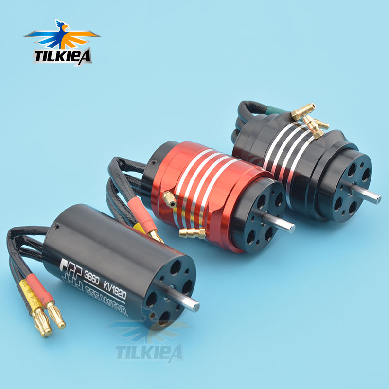 High Speed SSS 3660 Brushless Motor 1620KV 2070KV 2726KV Brushless Motor 4 Poles With Water Cooling