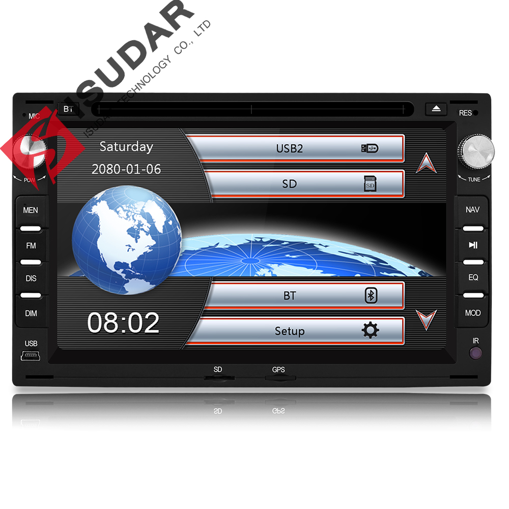 Isudar Car Multimedia Player GPS 2 Din 7 Inch For VW/Volkswagen/PASSAT/B5/MK5/GOLF/POLO/TRANSPORTER Radio fm BT 1080P Ipod Map