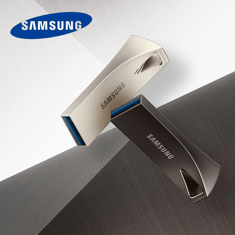 SAMSUNG BAR PLUS 300MB/S 256gb 128gb Usb 3.1 Flash Drive 200MB/S 64gb 32GB Usb 3.0 Pen Drive Metal Memory Stick Storage Device image