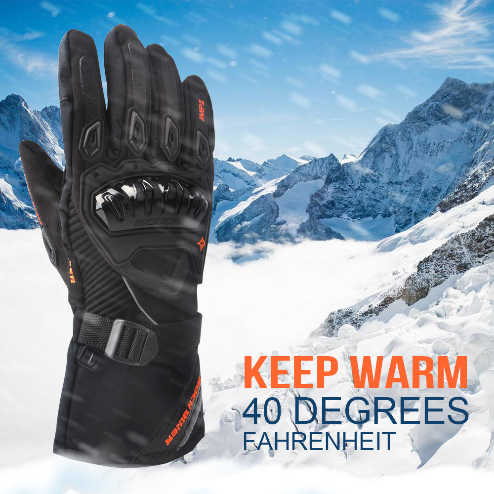 KEMiMOTO Motorcycle Accessories <font><b>Gloves</b></font> Winter Warm <font><b>Gloves</b></font> Touch Screen Waterproof Windproof Protective <font><b>Gloves</b></font> guantes moto