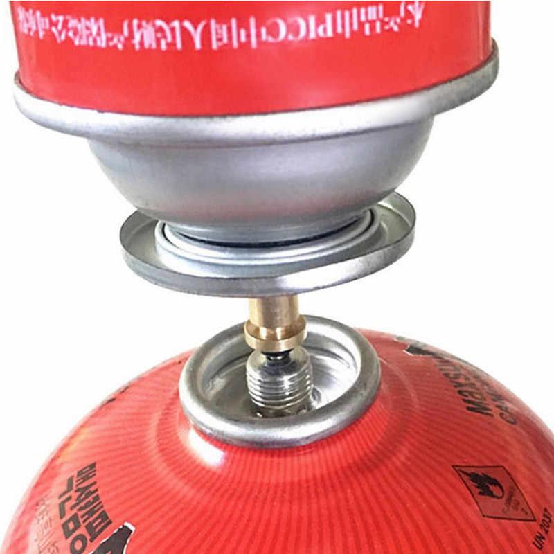 رائجة البيع موقد للتخييم الغاز الملء محول للمشي في الهواء الطلق تضخيم اسطوانة أسطوانة غاز خزان الملحقات