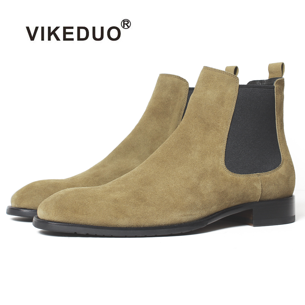 Vikeduo 2018 Handmade Tactical Boot Military Fashion casual luxury ankle boots for male Genuine Leather snow winter Men Boots [krusdan]british style men autumn winter boots solid casual genuine leather retro boots falts brand red wine male ankle boot