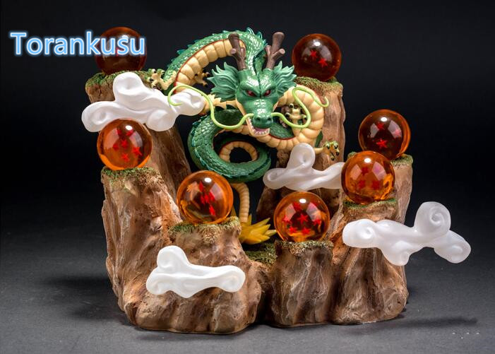 Dragon Ball Z Action Figure Shenron With Mountain Crystal Balls PVC Figure Dragon Ball Collectible Model Toys Figuras DBZ DIY01 banpresto wcf dragon ball shenron pvc action figures 14cm dragon ball z mega shenron collectible model toy figuras dbz dragon