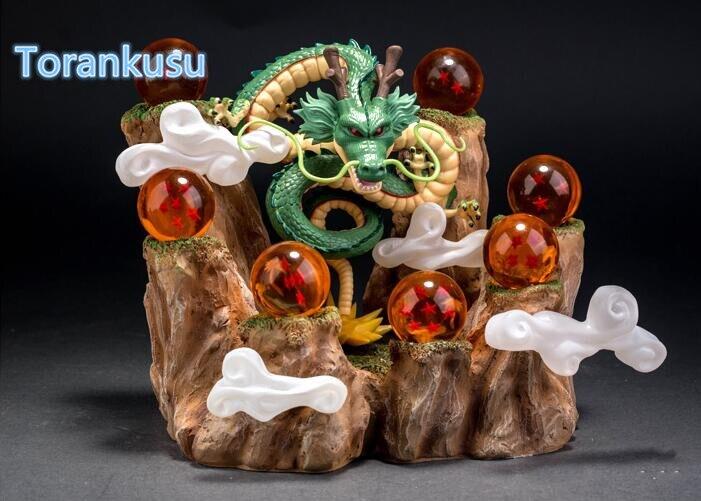 Figurine Dragon Ball Z avec boules de cristal de montagne figurine PVC figurine Dragon Ball à collectionner modèle jouets Figuras DBZ DIY01