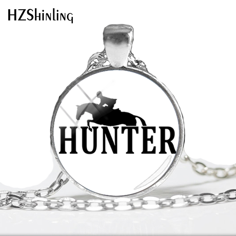 2018 NEW Jumper Riding Horse Glass Dome Photo Pendant Necklace Kempsey Quarter Horses Hand Craft Jewelry HZ1