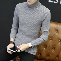 2018 Hot sale new autumn winter fashion Korean men's sweater men cultivating high necked sweater solid color tide plus size 5XL