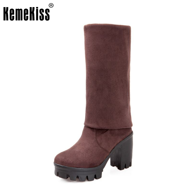 size 30-43 women high heel over knee boots ladies fashion long snow boot warm winter botas heels footwear shoes P7470 2016 fashion women winter shoes big size 30 50 low heel botas slip on stretch thin leg over the knee boots 30 31 32 33 hqw a98