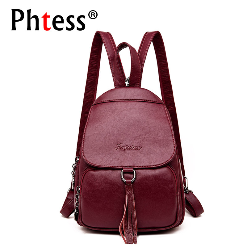 Women Small Leather Backpacks For Teenage Girls 2018 Preppy Style Backpack Vintage Sac a Dos Tassel Ladies Bagpack Girls Pack lighting inflatable flower for wedding decoration