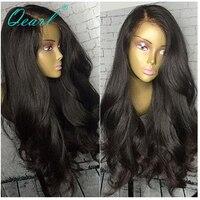 250% толстые боковая часть 360 Кружева Фронтальная парик бразильского тело тяжелые волны полный девственные волосы Цвет для черный Для женщин