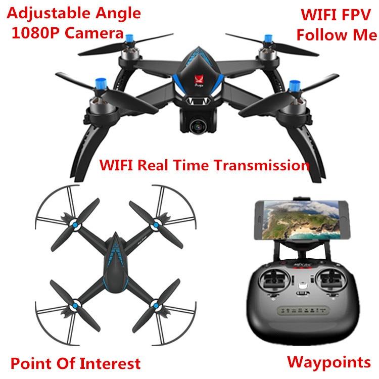 Nouveau WIFI sans brosse FPV GPS Auto suivez-moi course drone RC B5W Bugs 5 W 1080 P 5G 90 degrés servos caméra retour automatique vs H501S X21