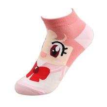 Kawaii Cartoon Sailor Moon Cotton Socks Cute Short Breathable Christmas Gifts Cos Accessories Foot Protector