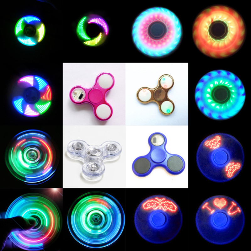 2017 New Fidget spinner puzzle unicorn Fashion party led Stickers Hand spinner mini crossbow Glow in the dark stickers spinner tri fidget hand spinner triangle metal finger focus toy adhd autism kids adult toys finger spinner toys gags