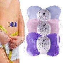 Батарея массаж целлюлита мини-дизайн бабочка массажер мышц тела электронный массажер для похудения 4 светодиодный дисплей