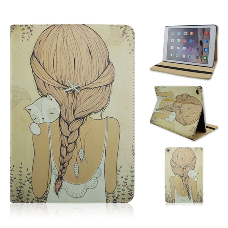 PU and PC Material Support Protective Cover Case of  Back The Girl for iPad Mini 1 Mini 2 Mini 3 attachment and mentoring functions of career and psychosocial support