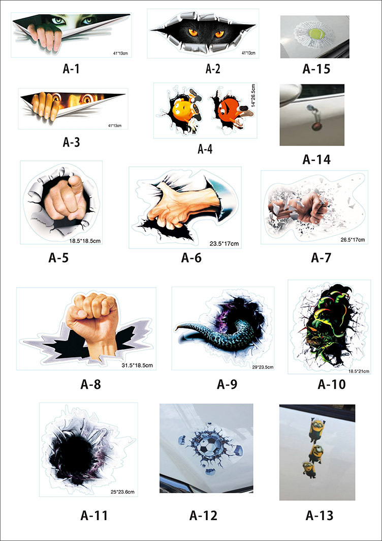1pcs Quality 11 Color Max Professional Eyeshadow Palette: High Quality Car Stickers 1Pcs Of Inside Photo 3D Digital