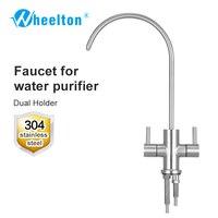 Wheelton RO кран 304 Нержавеющаясталь свинца двойной держатель Кухня питьевой водопроводной воды для очистки Системы обратного осмоса, как